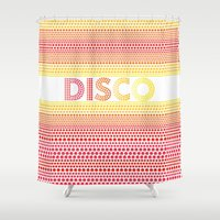 disco Shower Curtains featuring Disco by Gaba Blua