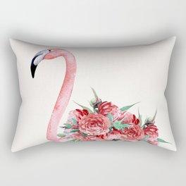 Flamingo Floral Rectangular Pillow