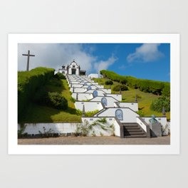 Chapel in Azores islands Art Print