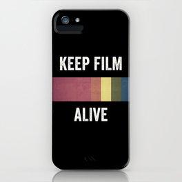 Keep Film Alive iPhone Case