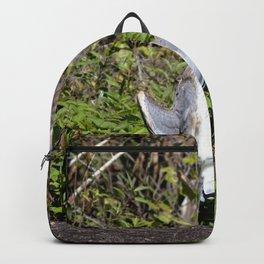 Watercolor Bird, Great Blue Heron 03, Rock Run, Florida, The FLASHER! Backpack