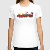 madrid T-shirts featuring Madrid skyline by jbjart