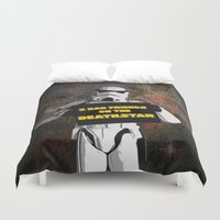 storm trooper Duvet Covers featuring Storm Trooper by ZeebraPrint