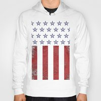 american flag Hoodies featuring American Flag by Nicko-Suave