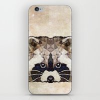 racoon iPhone & iPod Skins featuring Racoon by Ancello