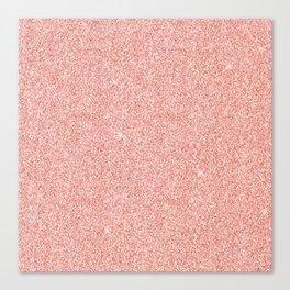 Rose Gold Glitter Canvas Print