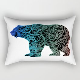 Colorful Rainbow Bear - III Rectangular Pillow