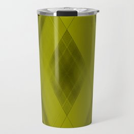 Ice triangular strokes of intersecting crisp lines with yellow triangles and stripes. Travel Mug
