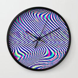 Glitch universe background. Old TV screen error. Wall Clock