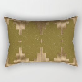 Southwestern Minimalist Retro Green & Pink Rectangular Pillow