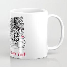 I Love You feather pen Coffee Mug