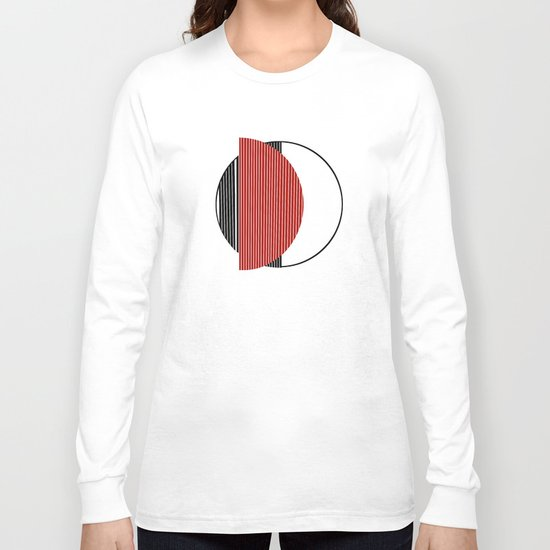 Half red Long Sleeve T-shirt