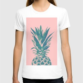 Blush Pineapple Dream #3 #tropical #fruit #decor #art #society6 T-shirt
