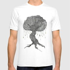 Girl In Tree MEDIUM White Mens Fitted Tee