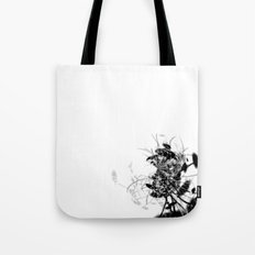 Datadoodle Flowers B/W Tote Bag
