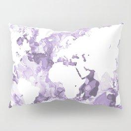 Design 109 Purple World Map Pillow Sham