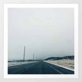The Snowy Road Art Print