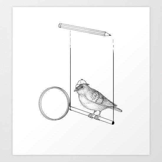 Cluebird Art Print