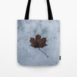Frozen in Time - Maple Leaf, Austria Tote Bag