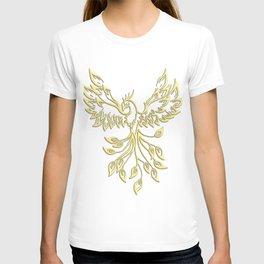 Golden Phoenix Rising T-shirt