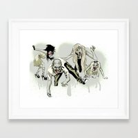 zombies Framed Art Prints featuring Zombies. by Pens and Pedals