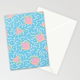 90s Geometric Pattern Stationery Cards