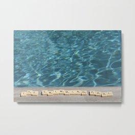 Swimming-pool Metal Print