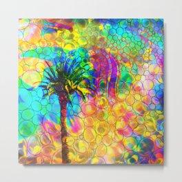 Bubble Palm tree Metal Print