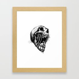 Melting Primal Scream - Skull Framed Art Print