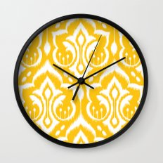 Ikat Damask Wall Clock