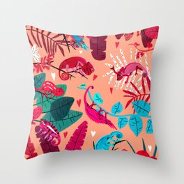 Love is in the Jungle Air Throw Pillow