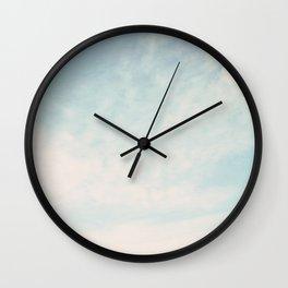 Beach Hut Sky  Wall Clock