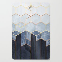 Soft Blue Hexagons Cutting Board