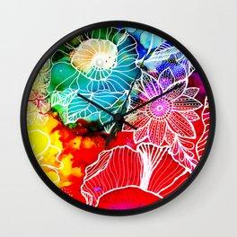 Aloha Floral Wall Clock