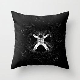 Gravity Snow Angel Throw Pillow