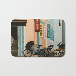 Bicycle Shadows Bath Mat
