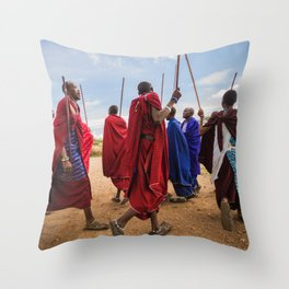 The Maasai dance Throw Pillow