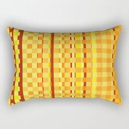 Checkered Red orange Design Rectangular Pillow