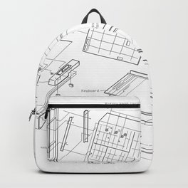 Korg MS-10 - exploded diagram Backpack