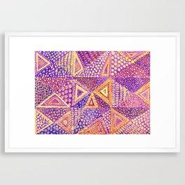 Handmade Abstract Background, Violet Dominant Framed Art Print