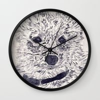 puppy Wall Clocks featuring Puppy by echoes