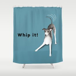 Whip it! (Blue-Gray) Shower Curtain