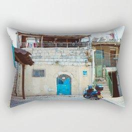 Blue in Safed Rectangular Pillow