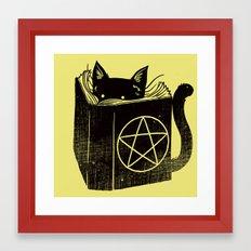 Witchcraft Cat Framed Art Print