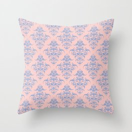 Damask Pattern | Vintage Patterns | Rose Quartz | Serenity | Pantone Colors of the Year 2016 Throw Pillow