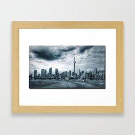Toronto Skyline from Billy Bishop Airport Framed Art Print