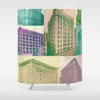 buildings Shower Curtains featuring Buildings by Sarah Brust