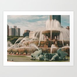 Fountain View 3 Art Print