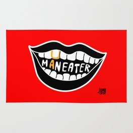 Maneater! - femme fatale crazy legs Rug