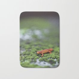 Orange Salamander Travels Bath Mat